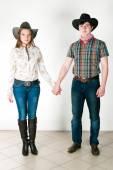 Cowboy's love story — Stock Photo