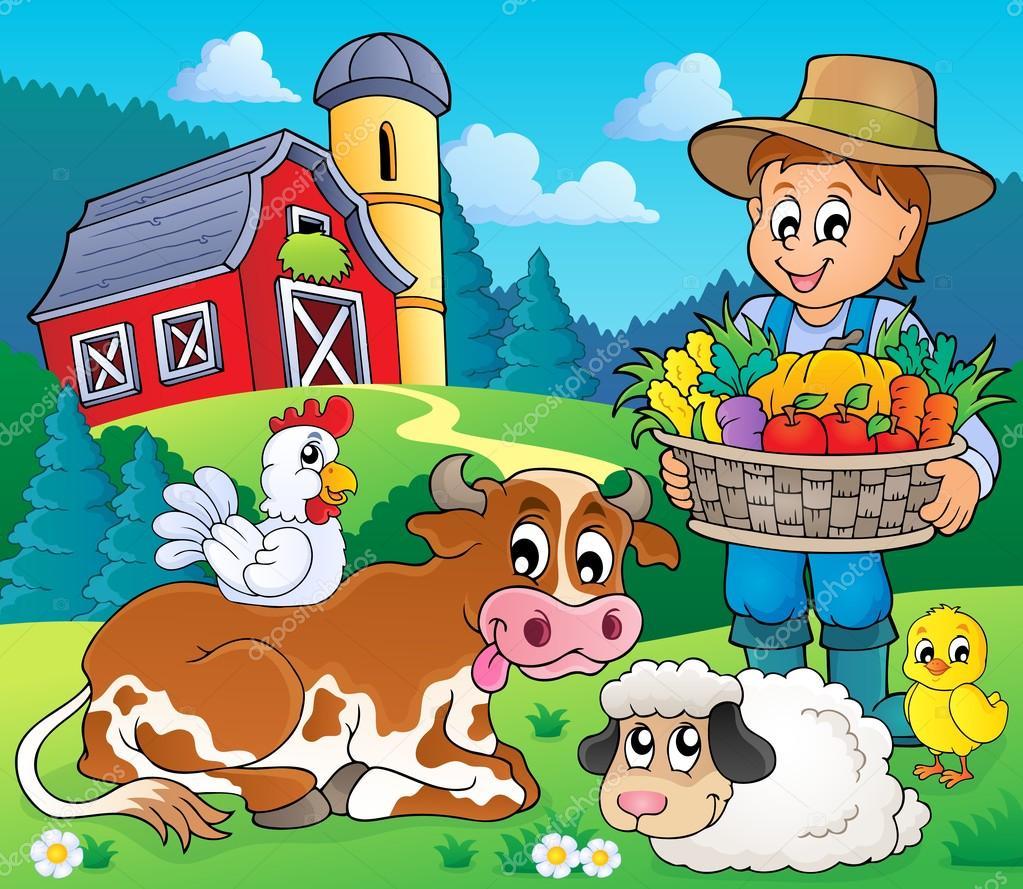 农民主题形象 6-eps10 矢量图– 图库插图