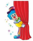 Clown thematics image 1 — Stock Vector