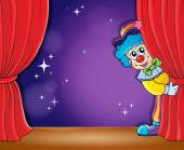 Clown thematics image 2 — Stock Vector