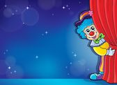 Clown thematics image 4 — Stock Vector