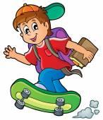 Image with school boy theme 1 — Stock Vector