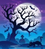 Spooky tree theme image 2 — Stock Vector