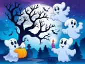 Spooky tree theme image 4 — Stock Vector
