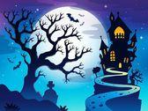 Spooky tree theme image 7 — Stock Vector