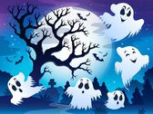 Spooky tree theme image 5 — Stock Vector