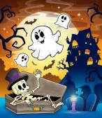 Haunted house topic image 1 — Stock Vector