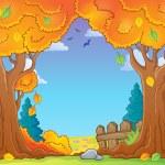 Autumn tree theme composition 1 — Stock Vector #55141471