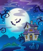 Haunted house theme background — Stock Vector