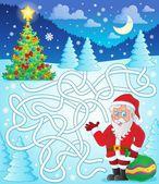 Maze 11 with Santa Claus — Stock Vector