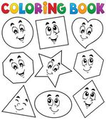 Coloring book various shapes 1 — Stock Vector