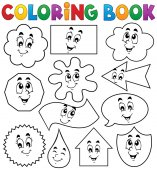 Coloring book various shapes 2 — Stock Vector