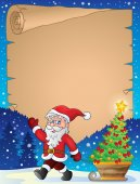 Christmas topic parchment 1 — Stock Vector