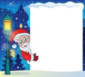 Frame with Santa Claus theme 5 — Stockvektor