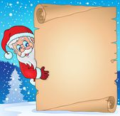 Christmas topic parchment 3 — Stock Vector