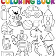 Coloring book with toys thematics 2 — Stock Vector #62607547