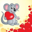 Valentine theme with mouse and hearts — Stockvektor  #62608119