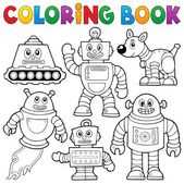 Coloring book robot collection 1 — Stock Vector