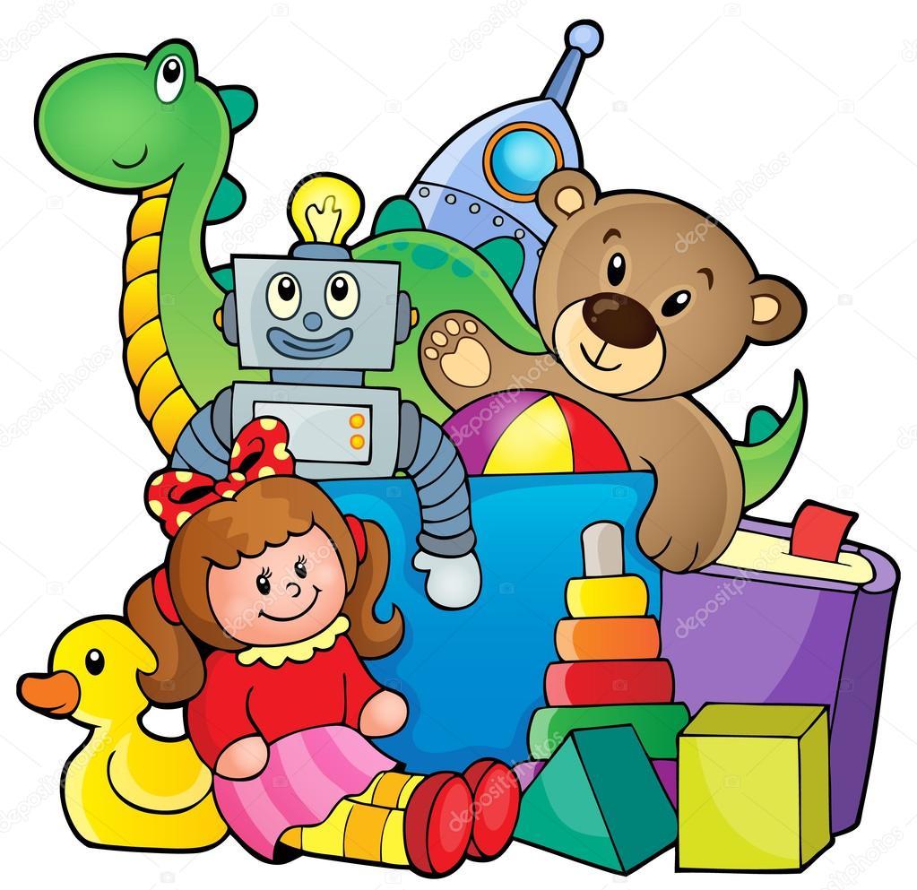 Рисованные картинки детей с игрушками