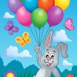 Rabbit with balloons theme image 2 — Stock Vector #67859963
