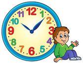 Clock theme image 2 — Stock Vector