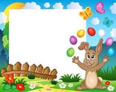 Frame with Easter rabbit theme 4 — Stock Vector
