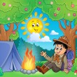 Scout boy theme image 2 — Stock Vector #69195901