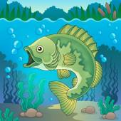 Freshwater fish topic image 1 — Stock Vector