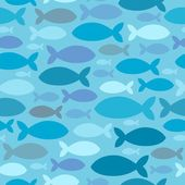 Seamless background fish silhouettes — Stock Vector