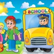 Image with school bus topic 7 — Stock Vector #70903367