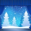 Stage with winter theme 2 — Stock Vector #70903933