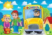 Image with school bus topic 7 — 图库矢量图片