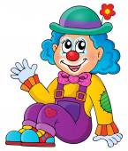 Sitting clown theme image 1 — Stock Vector