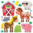 Farm animals set 2 — Stock Vector #72053635