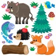 Forest animals theme set 2 — Stock Vector #72053879