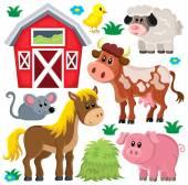 Farm animals set 2 — Stock Vector