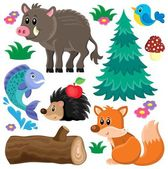 Forest animals theme set 2 — Stock Vector