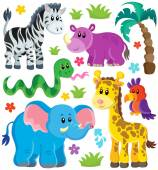Set of African animals 3 — Stock Vector
