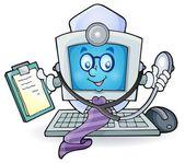 Bilgisayar doktor Tema Resim 1 — Stok Vektör