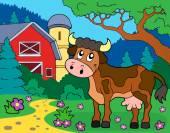 Cow theme image 2 — Stock Vector