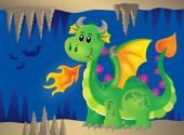 Image with happy dragon theme 2 — Stock Vector