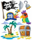 Pirate theme set 1 — Stock Vector