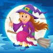 Cute witch theme image 2 — Stock Vector #77698182