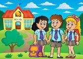 School pupils theme image 4 — Stock Vector