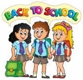 School pupils theme image 5 — Stock Vector