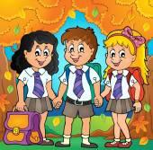 School pupils theme image 6 — Stock Vector
