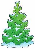 Coniferous tree theme image 1 — Stock Vector