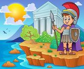 Roman soldier theme image 2 — Stock Vector