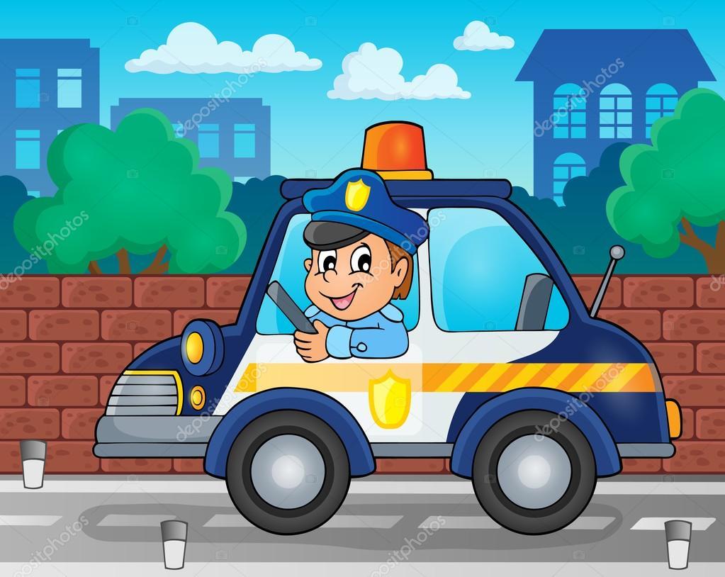 警察poli 卡通 矢量图