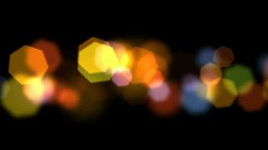 Holiday hexagon bokeh — Stock Video